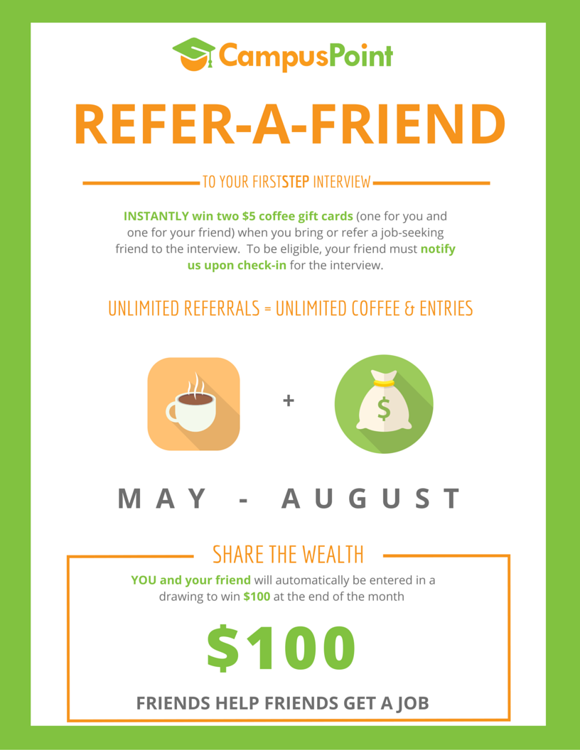 Campuspoint for Refer a friend email template